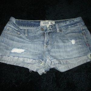 Pink - Denim Shorts Light Wash Size 4